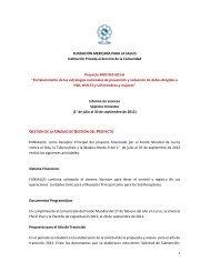 Informe Trimestral. Julio a septiembre de 2012 - Proyecto - Funsalud