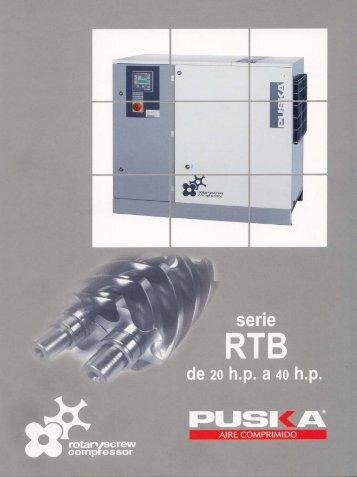 Compresor de Tornillo RTB 20 a 40 HP - remco srl