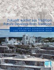 Zukunft wächst aus Tradition Future Develops from Tradition
