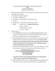 Garis Panduan Projek Sarjana Muda (Cadangan dan ... - UTM SPACE
