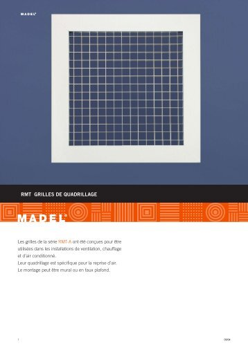 RMT GRILLES DE QUADRILLAGE - Madel