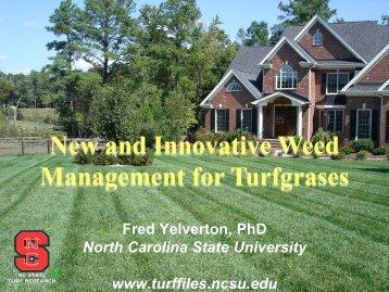 Weed Presentation - TurfFiles - North Carolina State University