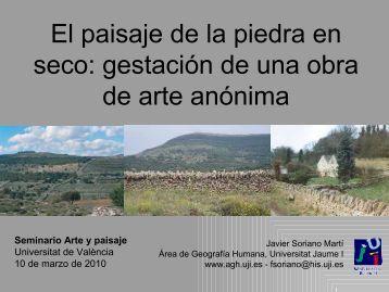 El paisaje de la piedra en seco - Coordinadora d'Entitats per la ...