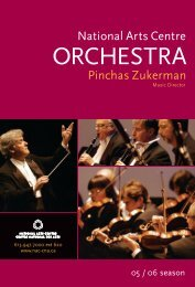 2005-2006 NAC Orchestra - National Arts Centre