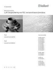 Luft/avgass ecoTEC exclusiv + plus - Vaillant
