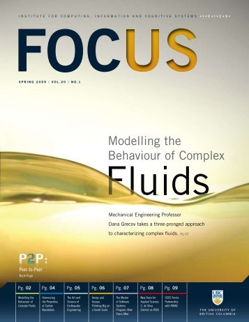 FOCUS | Spring 2009 - ICICS - University of British Columbia