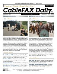 Program Awards Special Issue - CableFax