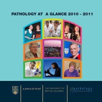 Booklet 1 - Pathology and Laboratory Medicine - University of British ...