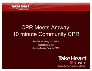 CPR Meets Amway: 10 minute Community CPR - Gathering of Eagles