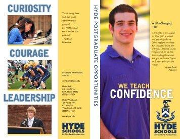 Postgraduate Brochure - Hyde Schools
