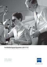 Fortbildungsprogramm 2011/12