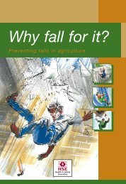 INDG369 Why fall for it? Preventing falls in agriculture - Facelift