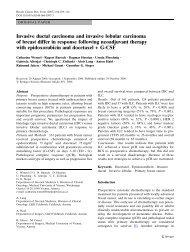 Invasive ductal carcinoma and invasive lobular carcinoma of breast ...