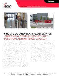 NHS Blood and Transplant Service - AMAG