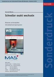 Schneller exakt wechseln - MAS Tools & Engineering