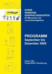 (Kurse, Gruppen und Seminare) von FreiRaum (als PDF-Datei) - die ...