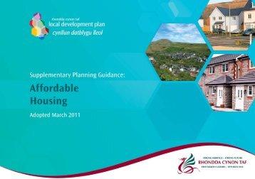 Affordable housing - Rhondda Cynon Taf