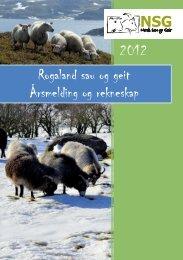 2012 - Norsk Sau og Geit