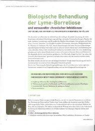Biologische Behandlung der Lyme-Borreliose