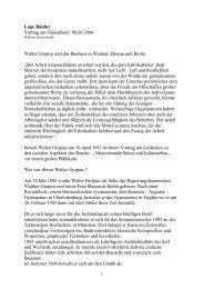 Loge Baldur Vortrag am Gästeabend 08.06.2004 Walter Gropius ...