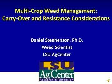 Multi Crop Weed Management - Louisiana Agricultural Consultants ...