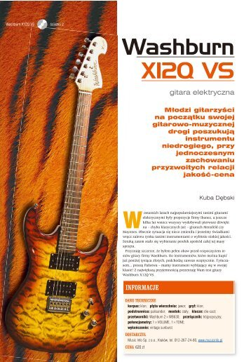 Washburn X12 QVS - Music Info
