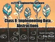 Class 8: Implementing Data Abstractions - ArrestedComputing