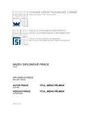vysoké učení technické v brně název diplomové práce - Ústav ...