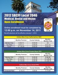 2012 SBCFF Local 2046 - My Benefit Choices