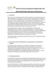 Schulcurriculum Evangelische Religionslehre G8 Dietrich ...