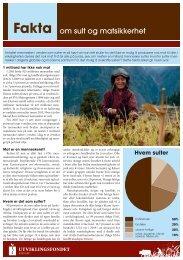 Fakta om sult og matsikkerhet - Utviklingsfondet