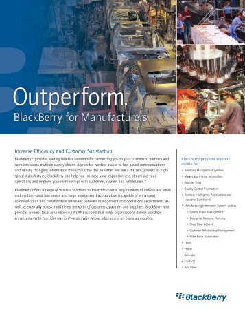 BlackBerry for Manufacturing