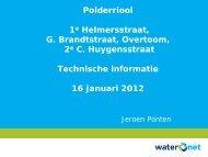 Presentatie bewonersavond 16 januari 2012 - Waternet