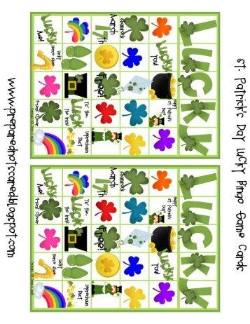Lucky Bingo Game Packet