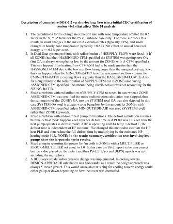 Description of DOE 2.2 version 44e2 Bugfixes - DOE-2.com