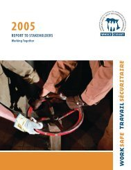 REPORT TO STAKEHOLDERS - WorkSafeNB