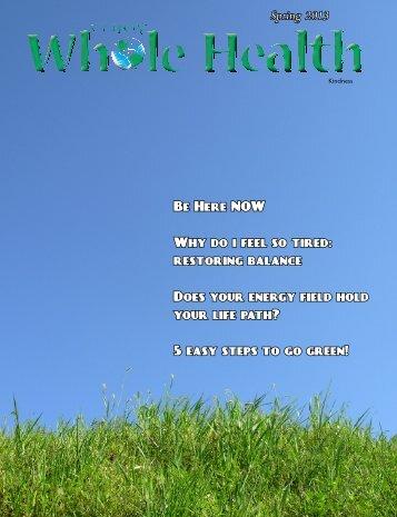 Spring 2013.pdf - Enjoy Whole Health