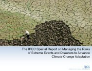 The IPCC Special Report on Managing the Risks of Extreme Events ...