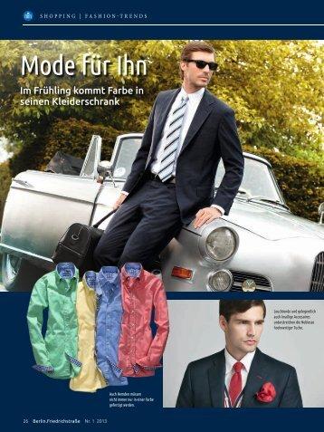 Mode für Ihn – Männermode Frühjahr 2013 - CutForYou