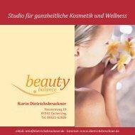Studio für ganzheitliche Kosmetik und Wellness - beauty by balance