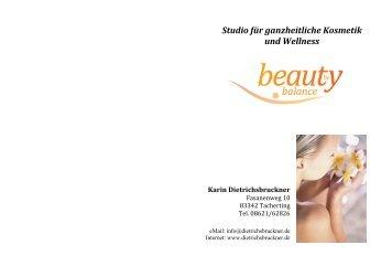 Behandlungsprogramm - beauty by balance