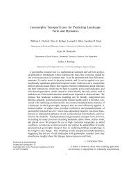 Geomorphic Transport Laws for Predicting Landscape Form and ...
