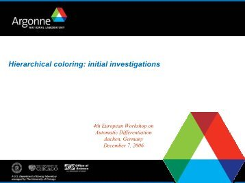 Hierarchical coloring: initial investigations - Autodiff.org
