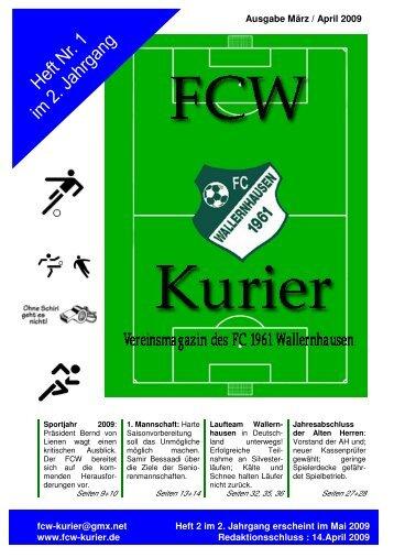Download von Heft 2009/1 - fcw-kurier.de