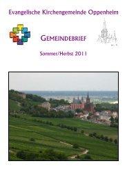 Gemeindebrief Sommer/Herbst 2011 - Evangelische ...