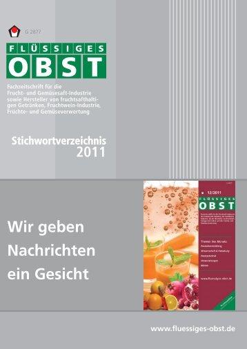 FLÜSSIGES OBST Stichwortverzeichnis 2011 - Archiv Fluessiges ...