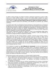 SYNTHÈSE DE L'ÉTUDE ANALYSE DES FONCTIONS ... - Actiris