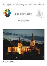 Gemeindebrief Ostern 2008 - Evangelische Kirchengemeinde ...