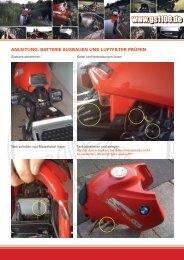 Batterie ausbauen und Luftfilter prüfen - gs1100.de - BMW R 1100 GS
