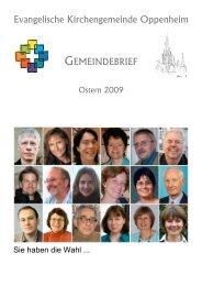 Gemeindebrief Ostern 2009 - Evangelische Kirchengemeinde ...